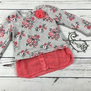 Little Lass Girls Floral Long Sleeve Top Shirt